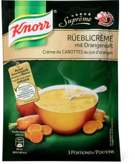 Knorr Suprême Rüebli crème mit Orangen