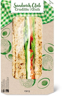 Sandwich crudites oeufs