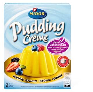 Pudding Crème Vanille ohne Zucker