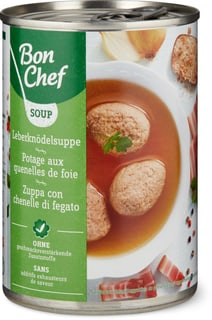 Bon Chef Potage aux quenelles de foie