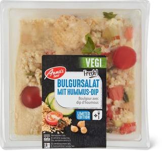 Vegi Bulgursalat mit Hummus-Dip