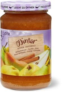 Confiture d'hiver Poire-coing-cannelle