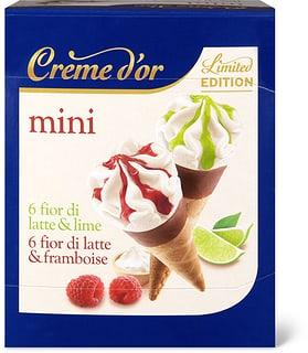 Crème d'or mini Cornet framb./lime