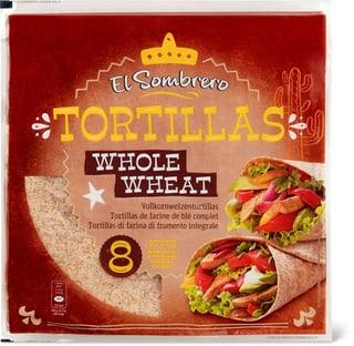El Sombrero Tortilla Whole wheat 8 Stk